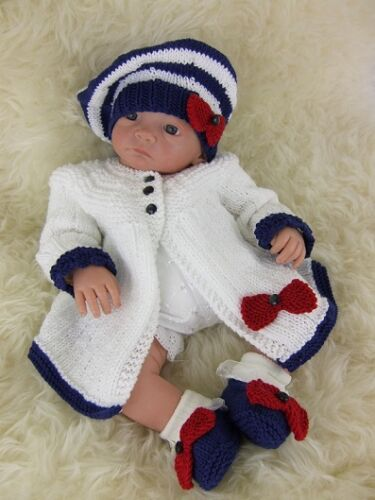Baby Knitting Pattern 53 TO KNIT Matinee Cardigan Hat Shoes Girls Reborn Dolls