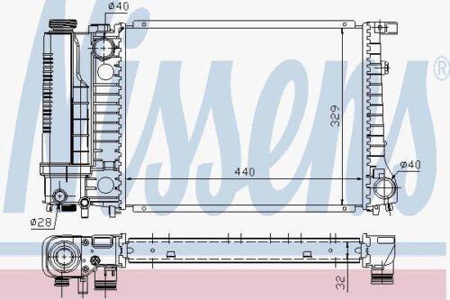 Nissens 60735A Radiator fit BMW 316I-318I AC 88