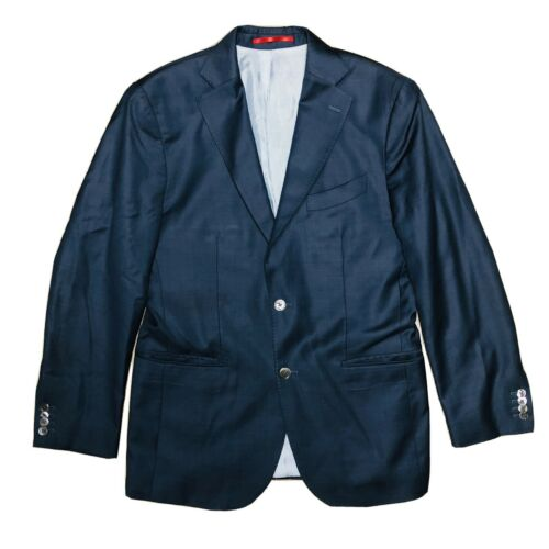 Suit Supply Men Navy Blue 2 Btn Double Vent Super
