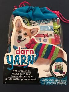 Darn-Yarn-Pet-Sweater-Kit-By-Fashion-Angels-Craft-Ages-8-BRAND-NEW