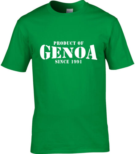 Product Of Genoa Italy Mens T-Shirt Place Birthday Gift Year Of Choice