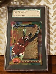 1993-94 TOPPS FINEST #1 MICHAEL JORDAN CHICAGO BASKETBALL CARD SGC 96 MINT PSA