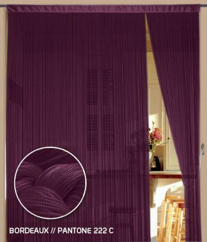 Fadenvorhang Vorhang Fadenstore Fadengardine 150 cm x 300 cm bordeaux KAIKOON