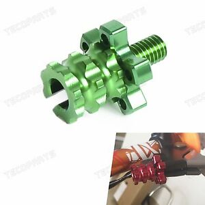 Green CNC Brake Clutch Cable Wire Adjuster Motorcycle Dirt Bike for Kawasaki