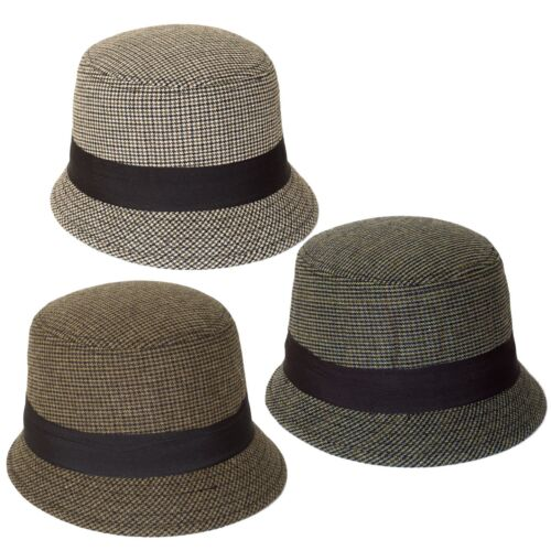 Dogtooth Pattern Cloche-Bucket Hat