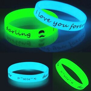 1-5-10pcGlow-in-the-Dark-RubberSilicone-Bracelet-Wristband-Cuff-Bangle-Jewelry