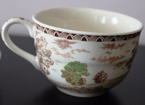 Collectible Vintage BROWN /& RICHIE English Castles Lambton Flat Cup /& Saucer Set
