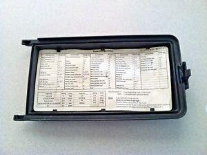 [SCHEMATICS_48YU]  1997-2000 MERCEDES-BENZ C230 C280 W202 ~ FUSE BOX LID ~ OEM PART | eBay | 1997 E320 Fuse Box |  | eBay