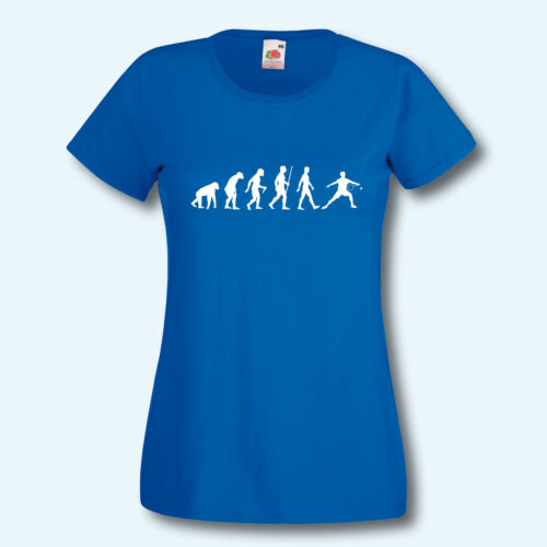 Fun-Shirt Donna T-shirt Evolution Badminton Sport molla Ball