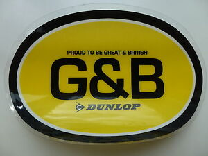 DUNLOP TYRES  PROUD TO BE GREAT AND BRITISH OFFICIAL CAR STICKER - <span itemprop='availableAtOrFrom'>Chepstow, United Kingdom</span> - DUNLOP TYRES  PROUD TO BE GREAT AND BRITISH OFFICIAL CAR STICKER - Chepstow, United Kingdom