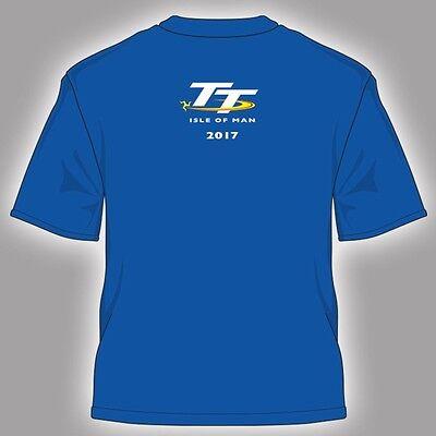2017 oficial de la isla de Man TT Carreras Kid's Azul curso t'shirt