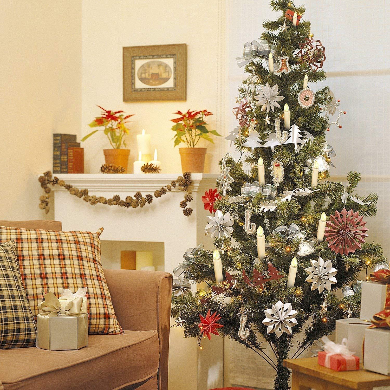 SunJas LED Bougies Lumières de Décoration Décoration de Christmas Lot de 30 pièces avec 7d4bc7