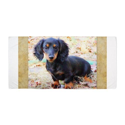 1442609795 CafePress Puppy Love Doxie Beach Towel
