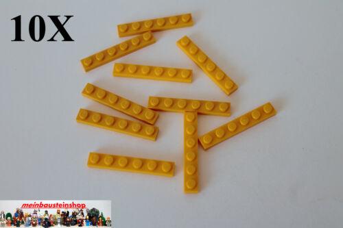 10X Lego® 3666 Platten Plate 1X6 Hell-Orange Bright Light Orange