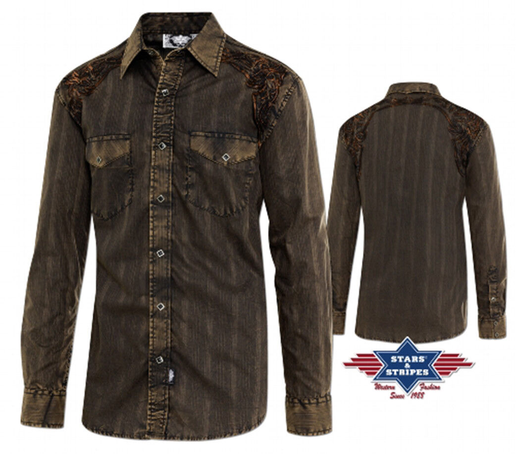 Shirts country western ref  FERNANDO Stars&Stripes