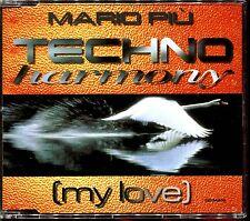 MARIO PIU - TECHNO HARMONY (MY LOVE) - FRENCH CD MAXI 8 TRACK [1695]
