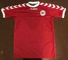 Rare Vintage Hummel Denmark DBU Futbol Soccer Jersey