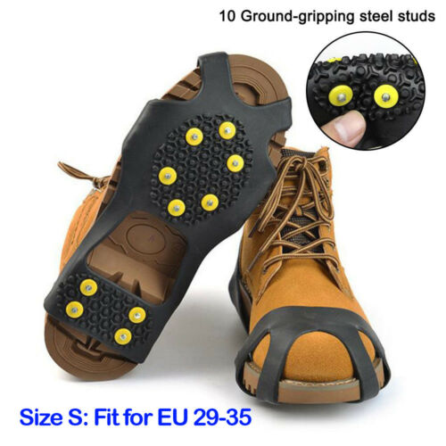 Snow Ice Silicone Shoes Cover Grippers Spikes Grips Climbing Anti-Slip Crampons