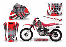 AMR Racing MX Dirt Bike Graphics kit Sticker Decal Compatible with Honda XR80 XR100 1985-2000 Deaden Red