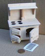 1:12 Scale Natural Finish Solid Fuel Stove Dolls House Miniature Accessory 075