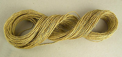 40Metre JUTE TWINE NATURAL HESSIAN STRING SISAL FILLIS SHABBY CHIC BURLAP THREAD