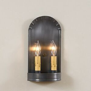 Country tin ARCH double tin wall sconce light /nice/ FREE SHIPPING