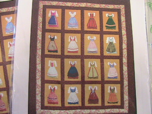 DIRNDL DRESS SHOPPE 2010 quilt pattern~56x68~use on purse~clothing too~easy appl