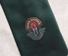 2007 GRAND NATIONAL JOHN SMITH'S HAND MADE TIE VINTAGE DARK GREEN HORSE RACING