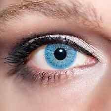 Blaue Kontaktlinsen farbige Hellblaue Linsen Blau mit Lösung und Behälter;K101K