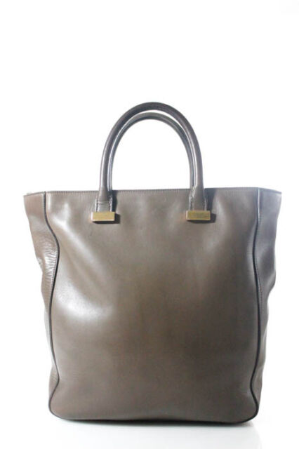 The Row Brown Leather Gold Tone Day Luxe Tote Shoulder Handbag