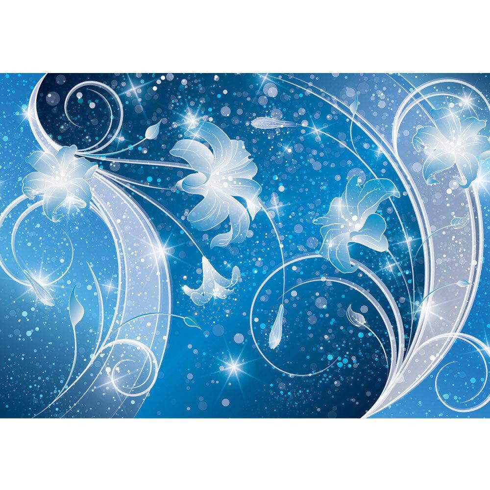 Papier Peint Photo Ornements Fleurs Feuillage Vrille Star Liwwing Numéro 2953
