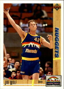 1991 Upper Deck Basketball Joe Wolf #297 DNA Games