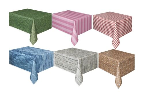 """Partyware//Decoration//Birthday//Setting TEXTURED//PATTERNED TABLECOVER 54/"""" x 108/"""""""