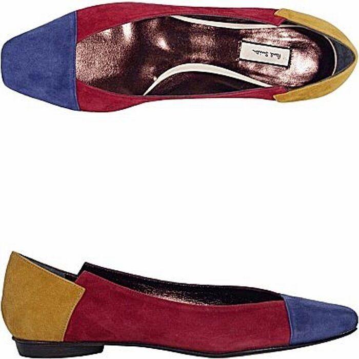 Paul Smith ballerina tricolore, tricolor flats