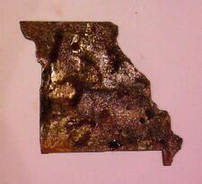 6 Inch Missouri State Shape Rough Rusty Metal Vintage Stencil Ornament Craft