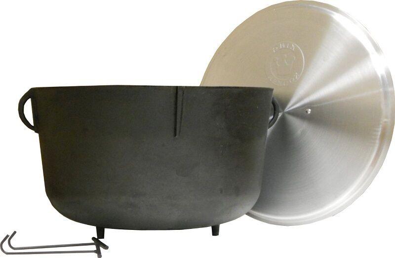 Cast Iron Pot Melting Pot With Lid Cooking Wash Jambalaya Kettle 5 Gallon