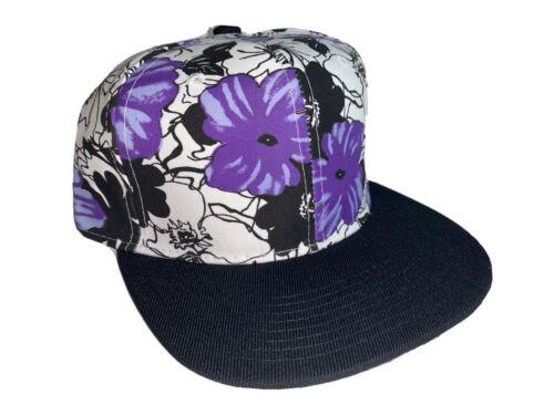 Neuf Noir Violet Floral Bill Imprimé Casquette Réglable Réglable Adulte exotique