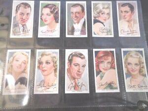1938-Player-FILM-STARS-movie-set-ser-3-Tobacco-Cigarette-cards-complete-Ex-MT