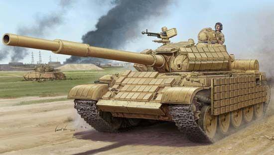 CHAR SOVIÉTIQUE T-62 ERA Mod. 1972, Armée Irakienne - KIT TRUMPETER 1 35 n° 1549