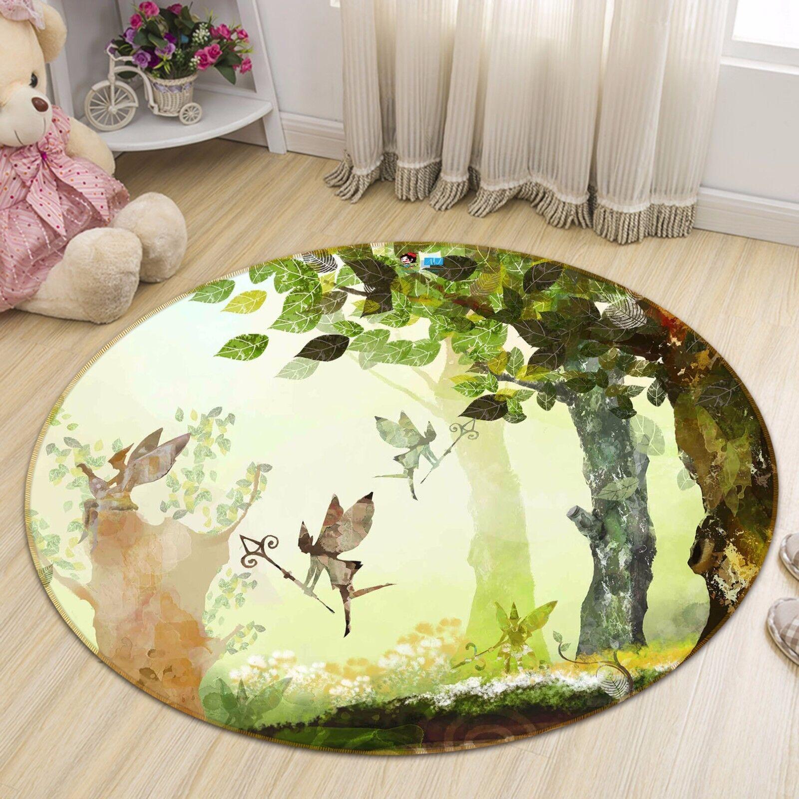 3D Elf Forest 46 Non Slip Rug Mat Room Mat Round Quality Elegant Photo Carpet CA