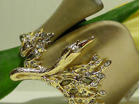 Alexis Bittar Warm Gray Lucite Imperial Swan Hinge Cuff.