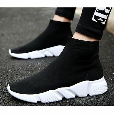 Mens Black Stretch Speed Sock Runners
