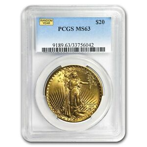 $20 Saint-Gaudens Gold Double Eagle MS-63 PCGS (Random) - SKU #152603