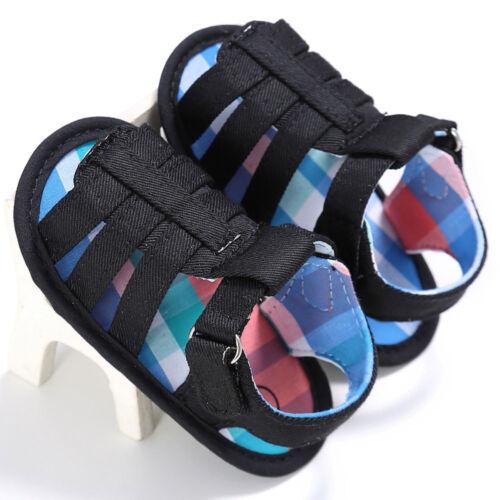 Toddler Newborn Baby Boy Girl Sandals Soft Sole Crib Shoes Sneaker Prewalker US