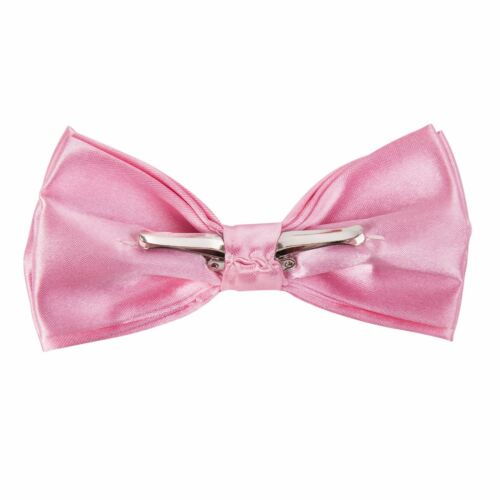 Stylish /& Safe Clip On Pre Tied Bow Tie Baby Pink Door Retail Security