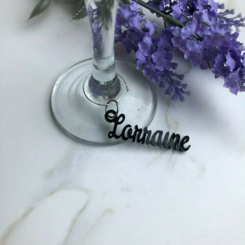 Personalised Names Wedding Celebrations Wine Glass Charms Top Table