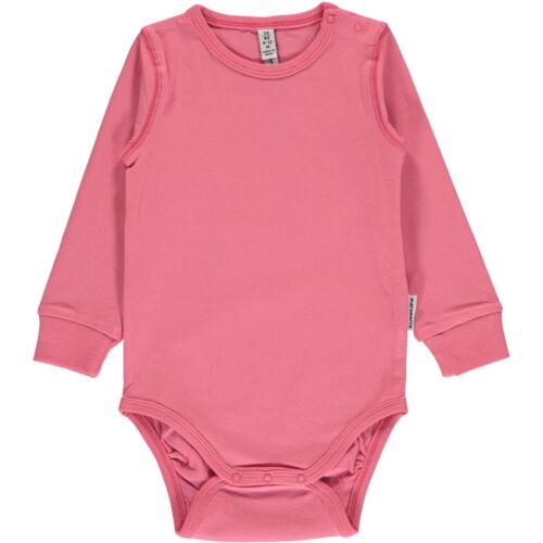AW18 Maxomorra Rose Pink Long Sleeve Body Organic Cotton Scandi Vest