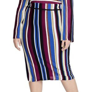 Rachel-Rachel-Roy-Womens-Skirt-Blue-Size-2X-Plus-Straight-Pencil-109-327