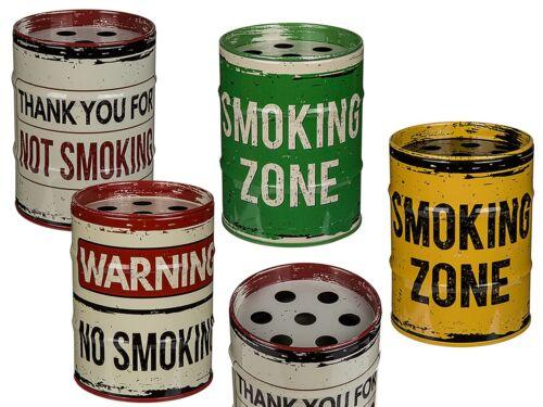 Aschenbecher Sturmaschenbecher Windaschenbecher Metall »Ölfass« Smoking Rauchen