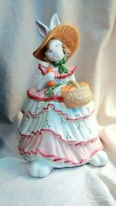 Fitz-amp-Floyd-Cookie-Jar-Scarlet-O-039-Hare-Rabbit-New-in-Box-Retired-Great-Gift